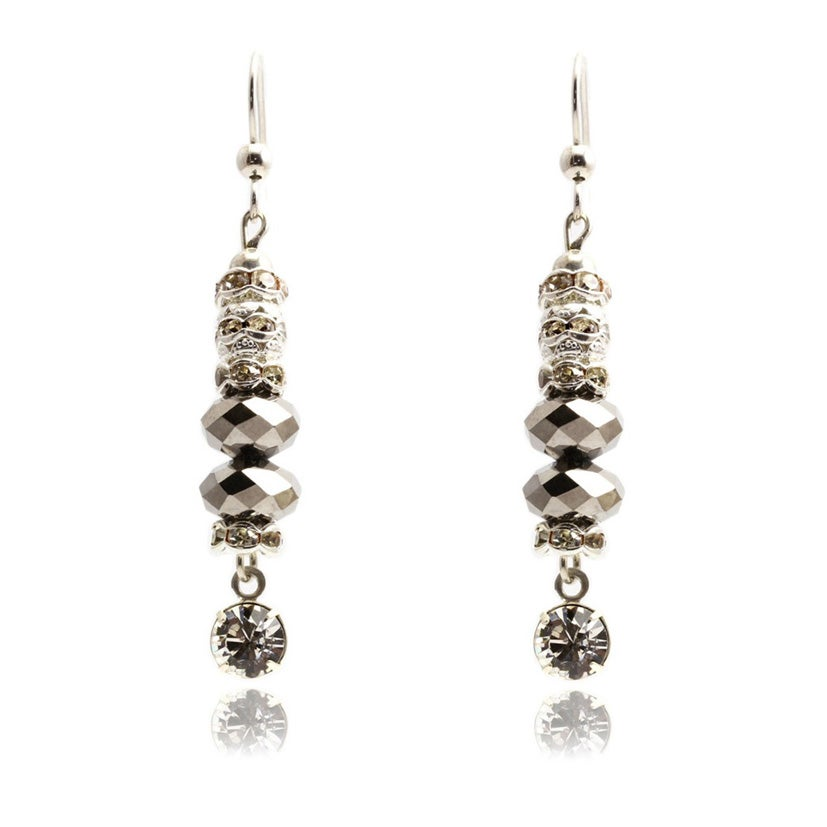 Image of SMOKY CINDERELLA EARRINGS