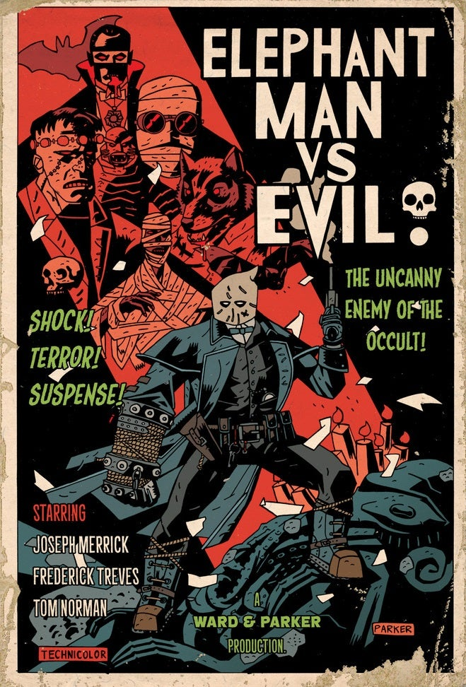 Image of A3 Print - Elephantman vs Evil