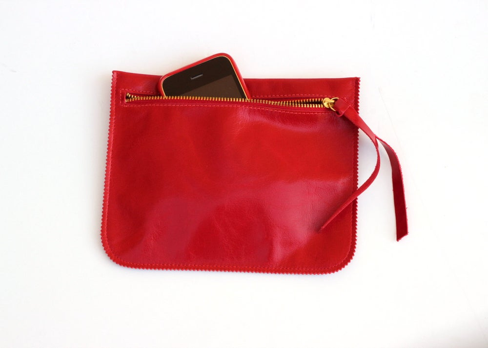 Image of Red Leather Purse