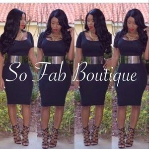 Image of Black Body Dress