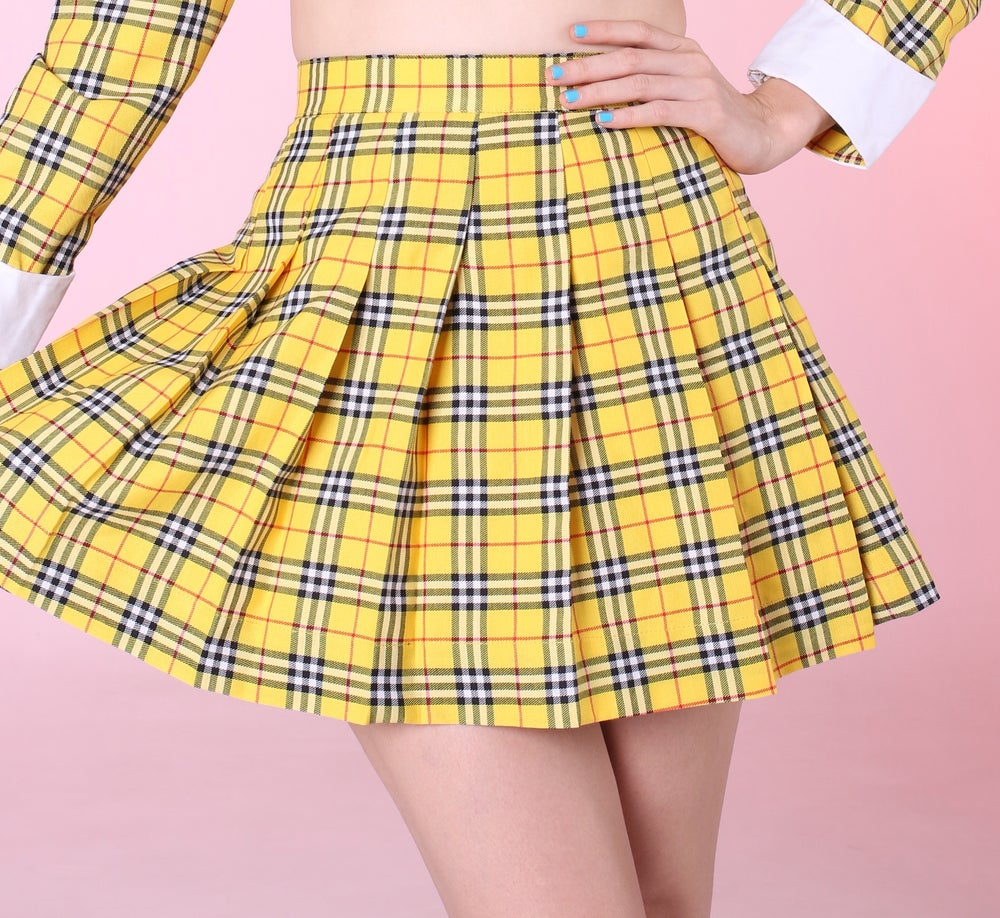 Image of Ready To Post - As If Yellow Tartan Skirt