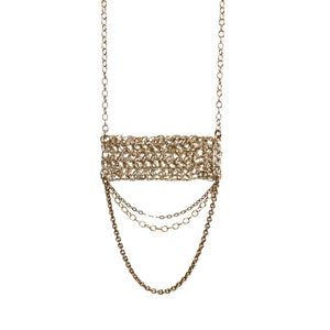 Image of Minaret with chains necklace - gold fill
