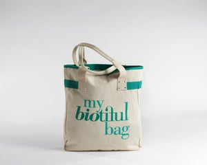 Image of Signature Flat Tote Green