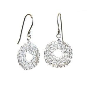 Image of Donut earrings - silver