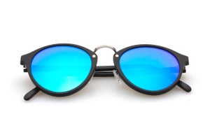 Image of Audacia - Black + Blue Mirrored Lens