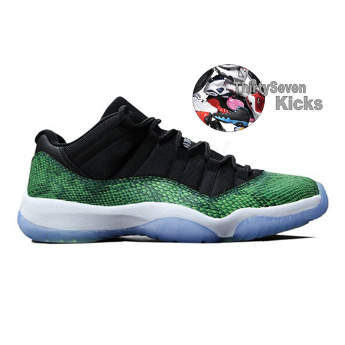 "Image of Jordan Retro 11 Low ""Green Snakeskin"""