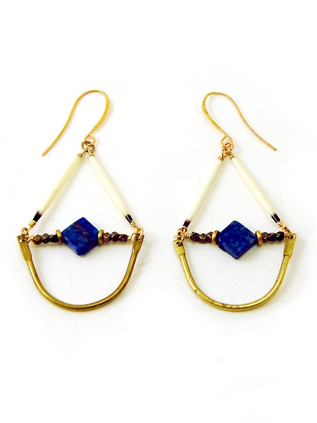 Image of Lapis Arc Earrings