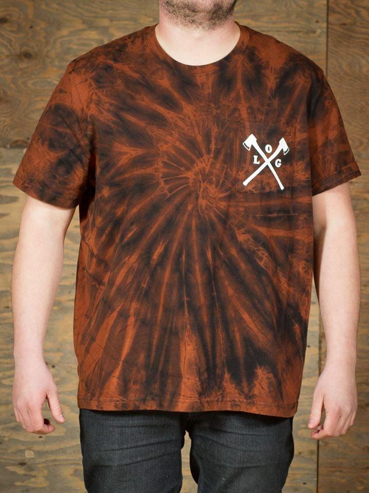 Image of bleach dye pocket tee