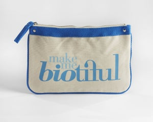 Image of Large Zipper Pouch Blue