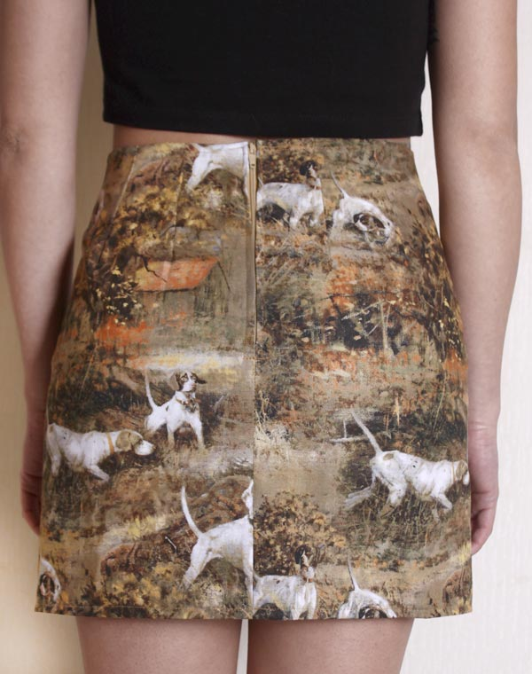 Image of Hunting Dogs skirt