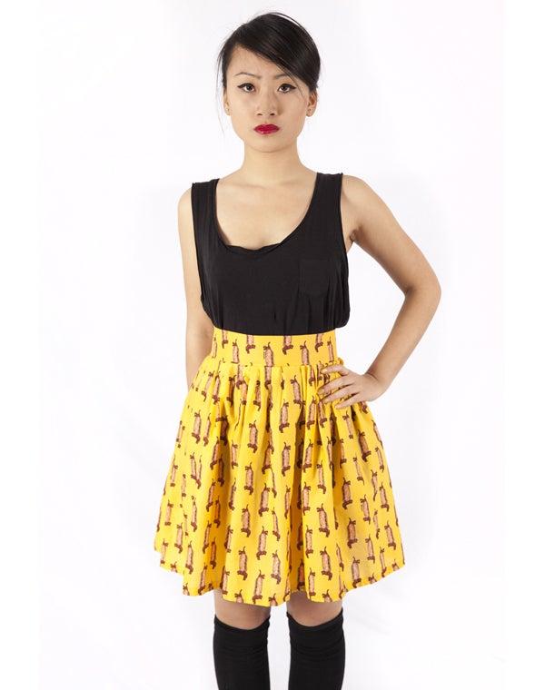 Image of Yellow hot dog skirt
