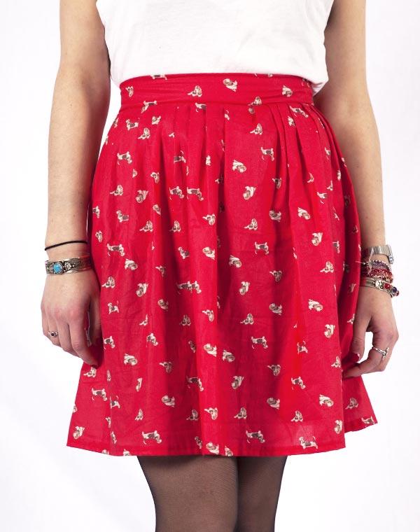 Image of Red basset skirt