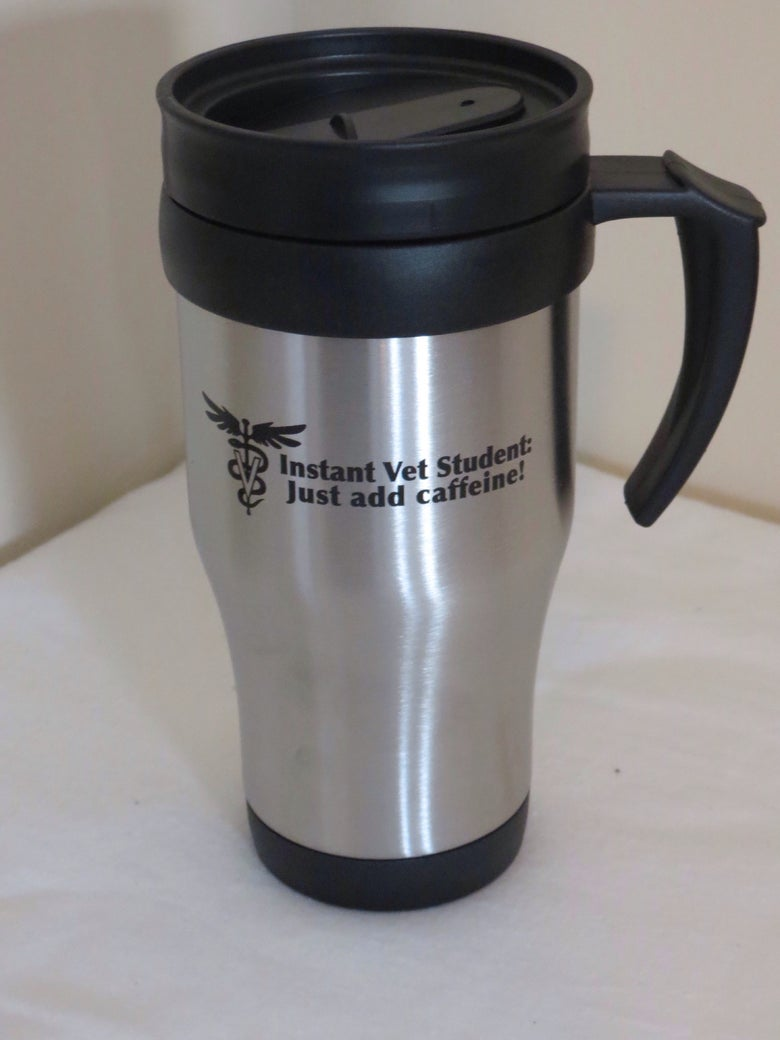 Image of Caffeinated Vet Student Travel Mug