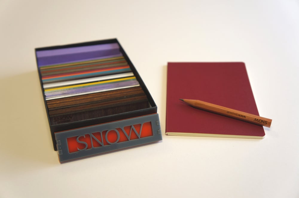 Image of SNOW materials sample box