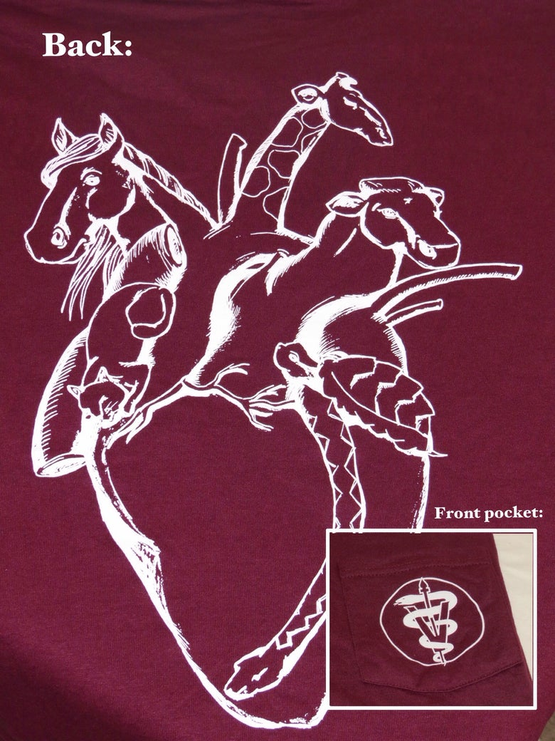"Image of ""Heart of a Vet"" Pocket T-shirt"
