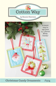 Image of Christmas Candy Ornaments Paper Pattern #974
