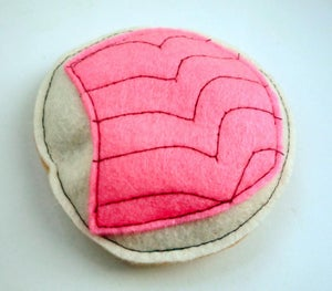 Image of Bagel Slice and Lox Organic Catnip CAT TOY Handmade by Oh Boy Cat Toy