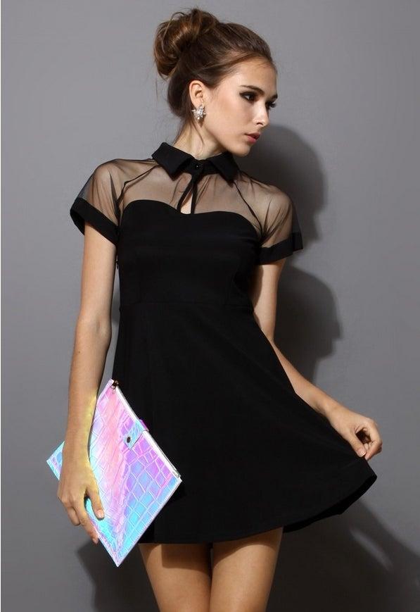 Image of Chiffon stitching dress