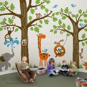 Image of Wondrous Woodland Nursery Playroom Wall Decals
