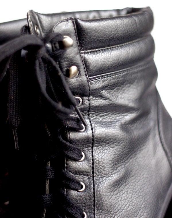 Image of Bottines à talons noires