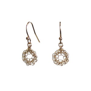 Image of Tiny Gold Filled Loop Earrings