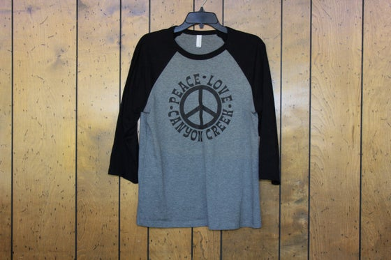 Image of Peace Love Canyon Creek Baseball Tee