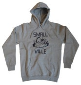 Image of Smallville Hoodie - heather grey/ dark blue
