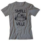 Image of Smallville Shirt Logo- heather grey/ dark blue