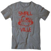 Image of Smallville Shirt Logo- heather grey/ red