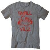 Image of Smallville Shirt Logo- heather grey/ red
