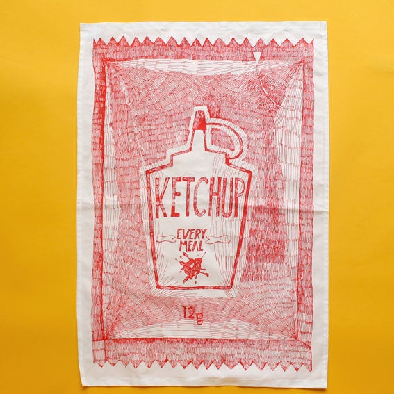 Image of 'The Big One' Sachet Tea Towel