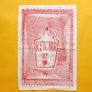 Image of 'The Big One' Sachet Tea Towel