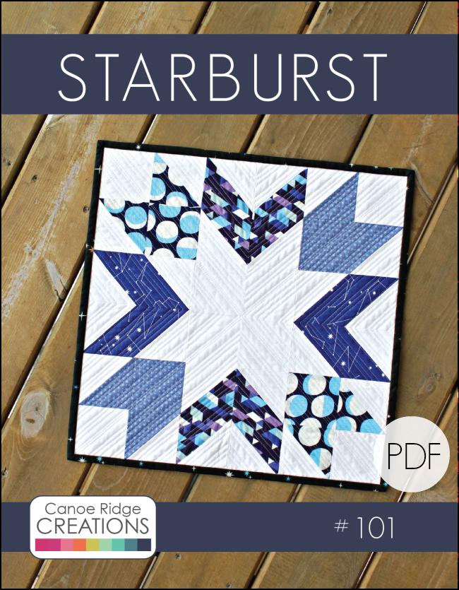 Image of Starburst Mini Quilt #101, PDF Pattern
