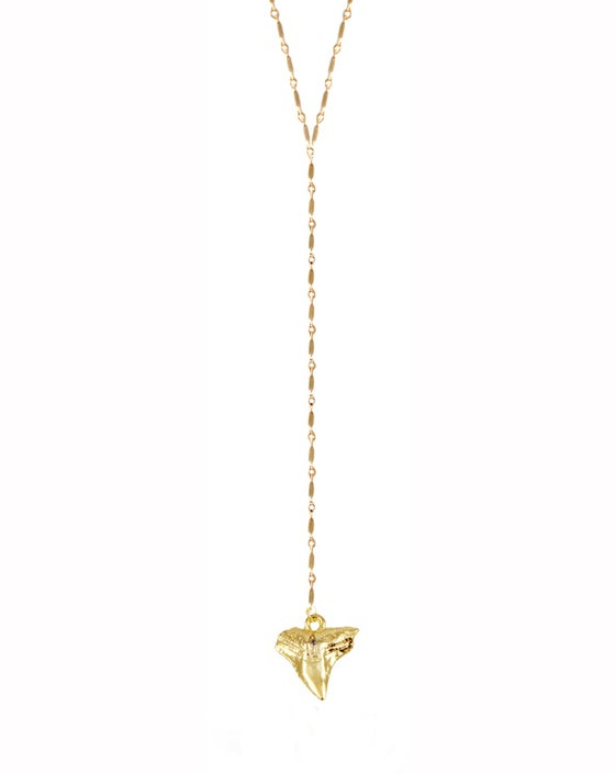 Image of Gold Shark Tooth Drop Necklace