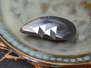 Image of Oxidized Triangle Studs