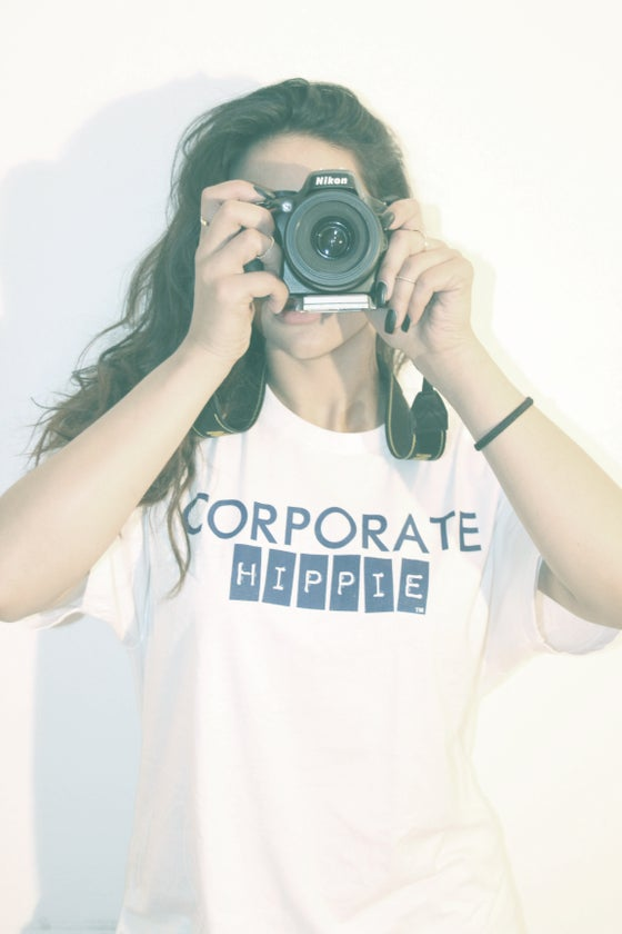 Image of Corporate Hippie logo Tee Unisex