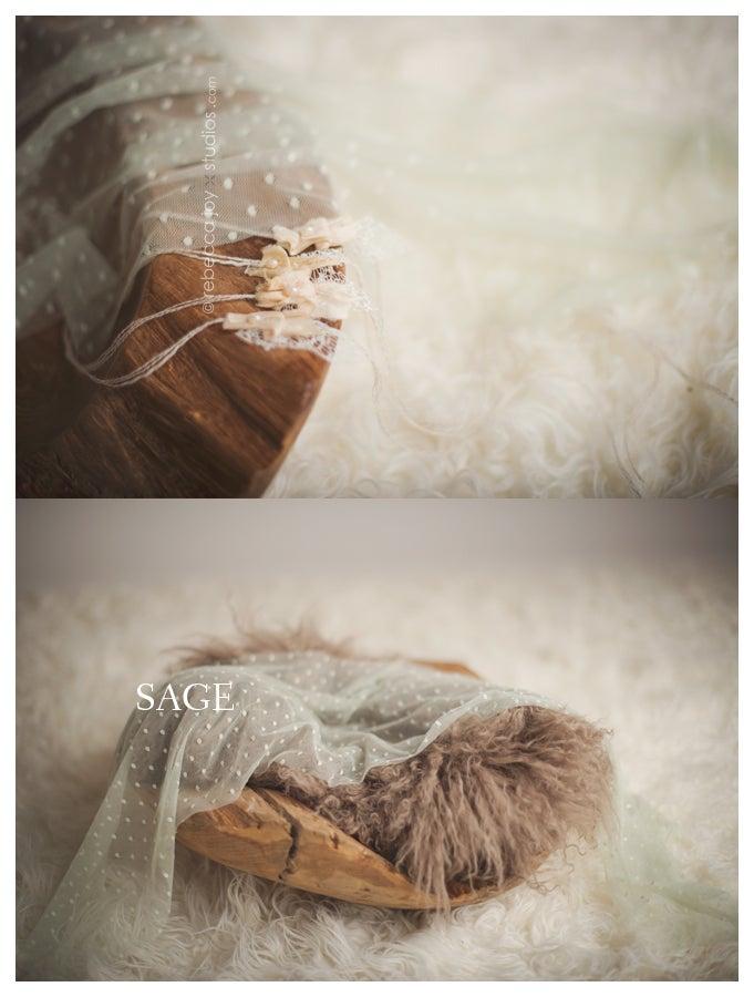Image of {Belle} sheer newborn wrap