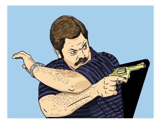 Image of Ron Swanson Print