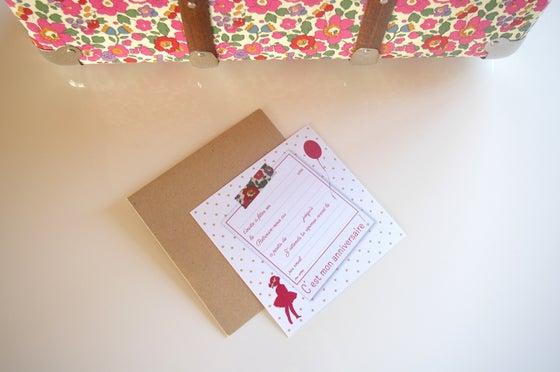Image of 5 invitations goûter d'enfant Les Trouvailles
