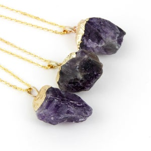 Image of Amethyst Nugget Necklace, SW278 Amy