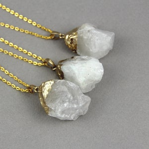 Image of Crystal Quartz Nugget Necklace, SW278Cry
