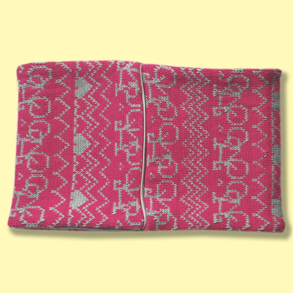 Image of Commuter Cowl - Fuchsia and Grey