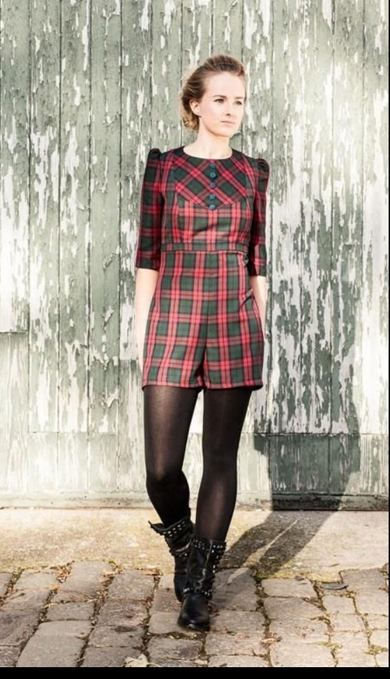 Image of Tartan playsuit