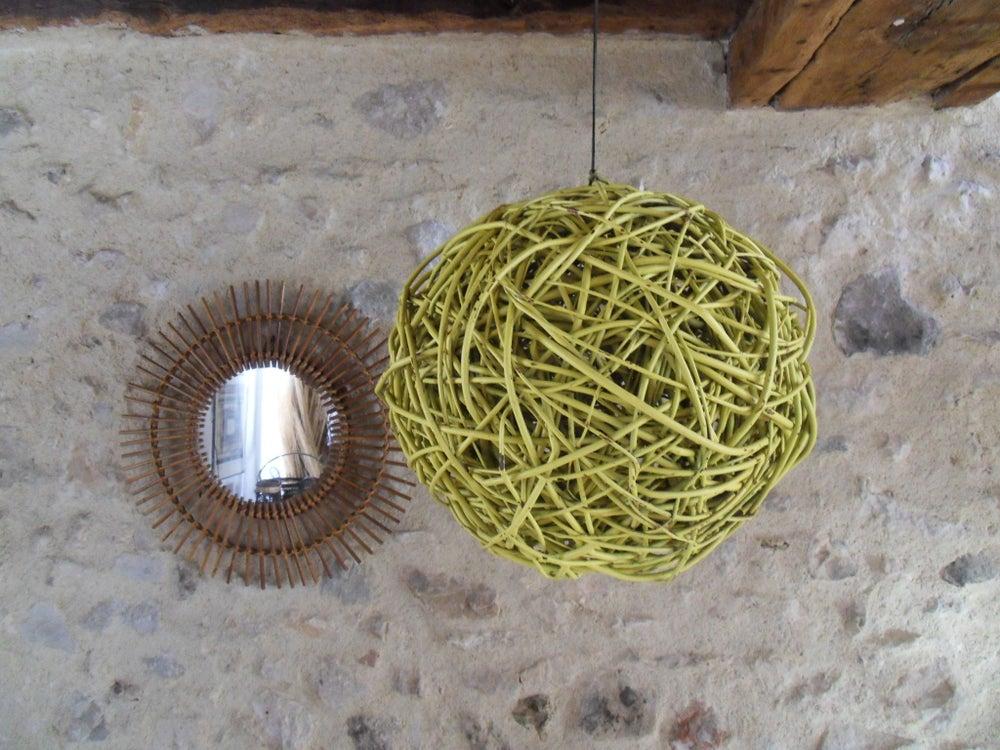 Image of boule osier - décorative