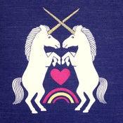 Image of Unicorns Indigo T-shirt