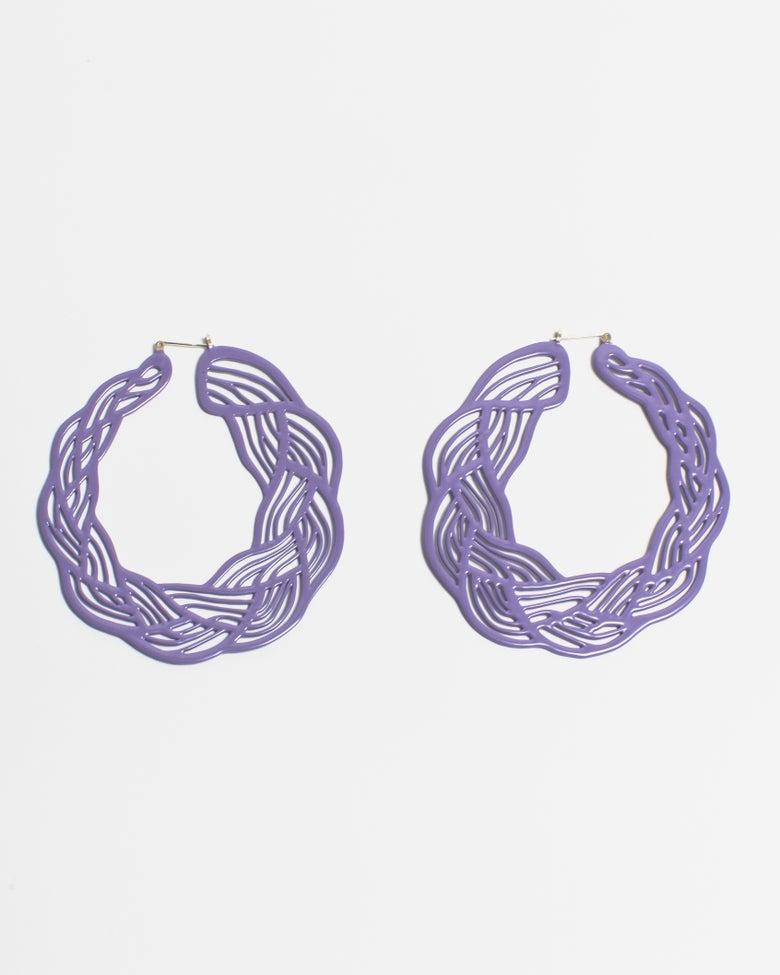 Image of Pastel Braid Hoops