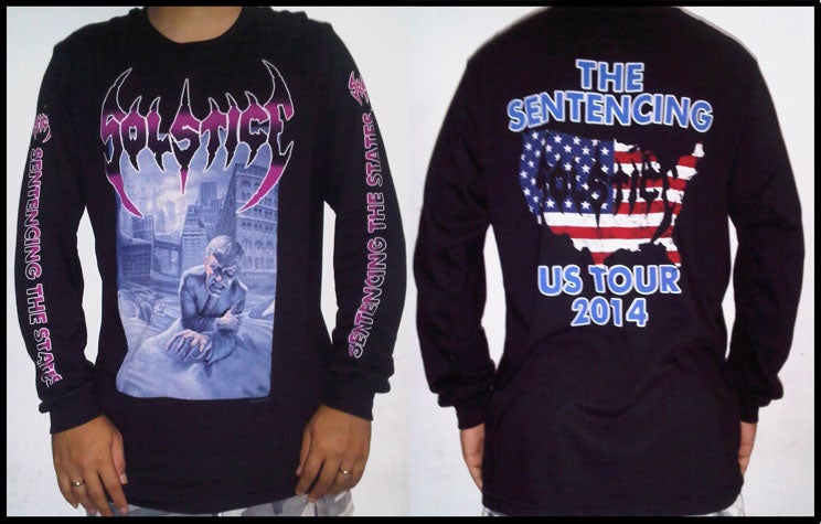 "Image of SOLSTICE ""The Sentencing US Tour 2014"" Long Sleeve Shirt"
