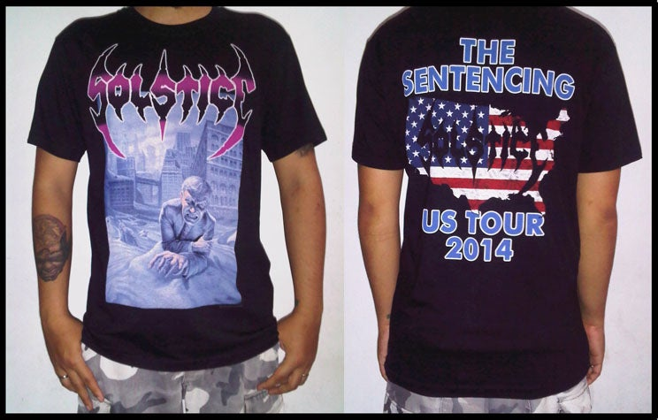 """Image of SOLSTICE """"The Sentencing US Tour 2014"""" Short Sleeve Shirt"""