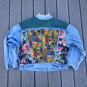 Image of HILL&VELEZ X LeROY JENKINS DENIM JACKETS LEATHER TOP