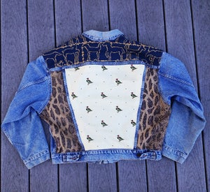 Image of HILL&VELEZ X LeROY JENKINS DENIM JACKETS DUCK DOT GOOSE